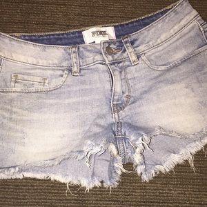 Size 2 VS Pink Jean shorts